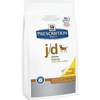 Лечебный корм PD Canine J/D для собак с заболеваниями опорно-двигательного аппарата, Hill's 12 кг
