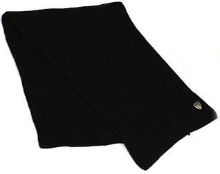 Классический мужской шарф 170х35 см. ARMANI 275319-3A392 MENS KNIT SCARF (NЕRO) 8051401453867 черный