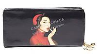 Мягкий стильный женский качественный кошелек барсетка с фото знаменитосней SACRED art. 858A-5 черный