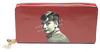Мягкий стильный женский качественный кошелек барсетка с фото знаменитостей SACRED art. 858A-5 красный