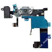 Шлейф для Apple iPhone 5 черный коннектор зарядки