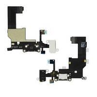 Шлейф для Apple iPhone 5 белый коннектор зарядки