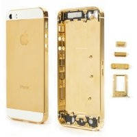 Задняя крышка iPhone 5 GOLD for WHITE