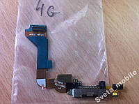 Шлейф порта зарядки iPhone 4 черный