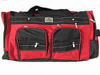Дорожная сумка EF (55см.) - красная с черным