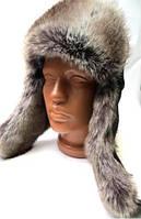 Зимняя стильная мужская шапка ушанка