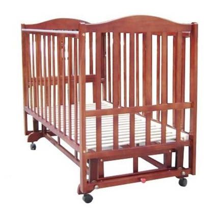 Детская кроватка Baby Care BC-407BC темная орех, фото 2