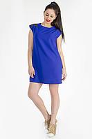 Платье синее ровное короткое Диско
