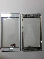 Сенсорное  стекло  LG Optimus L9, P760, P765, P768 белое с рамкой original.