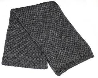 Теплый итальянский шарф для леди 160 см. ARMANI 285185-3A396 LADIES KNIT SCARF 1 8051402379661 серый