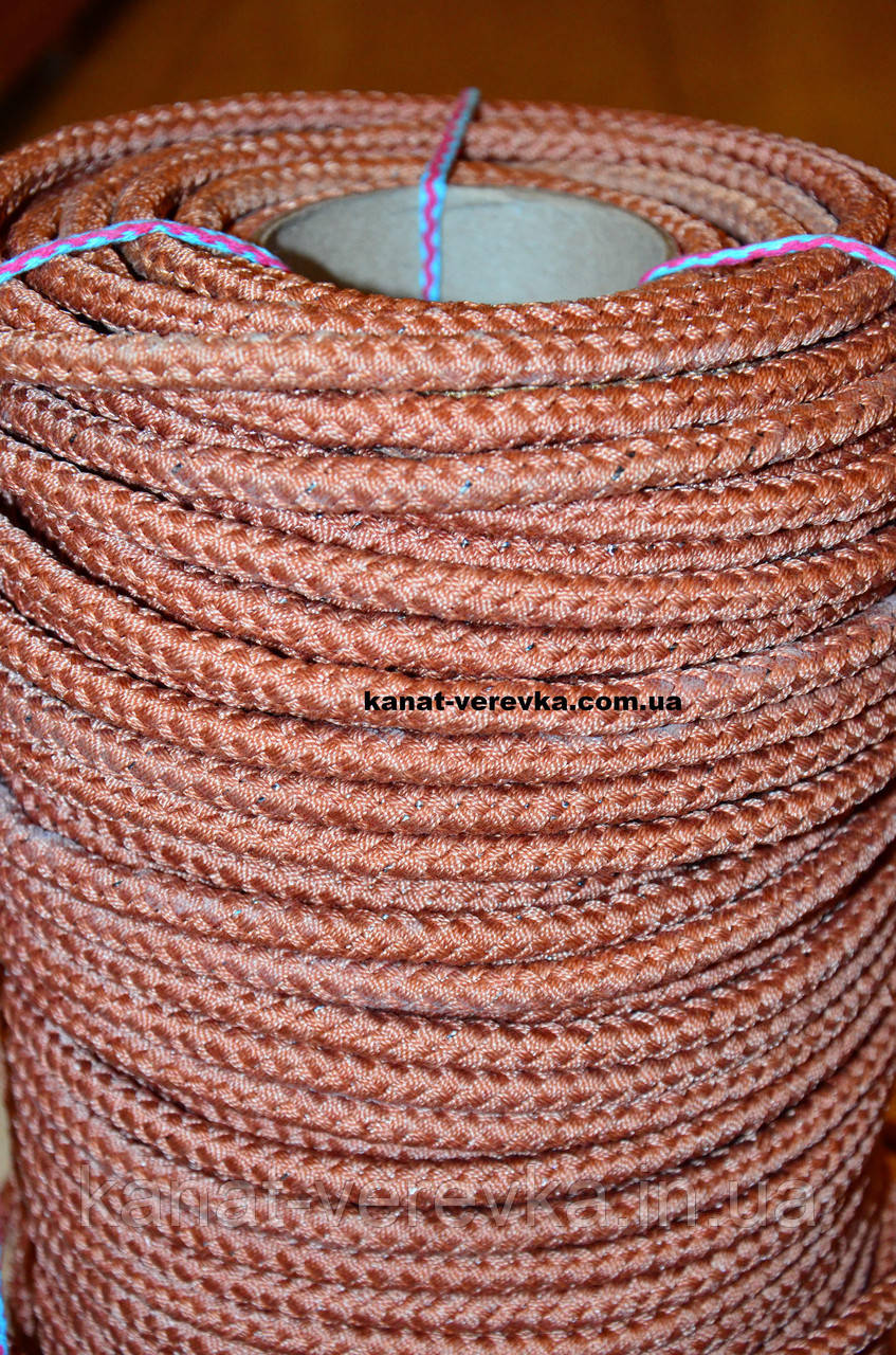 Шнур 12 мм - 100 м. Веревка плетеная кордовая.