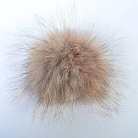 Помпон из натурального меха енота - 29-470