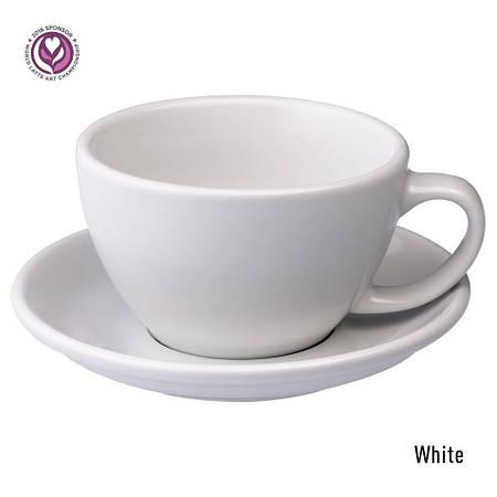 Набір чашка та блюдце для латте  Loveramics Egg 300ml Café Latte Cup & Saucer (White)