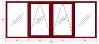 Система GU-966/150 oZ (окно/балкон). Масса створки до 130 кг.