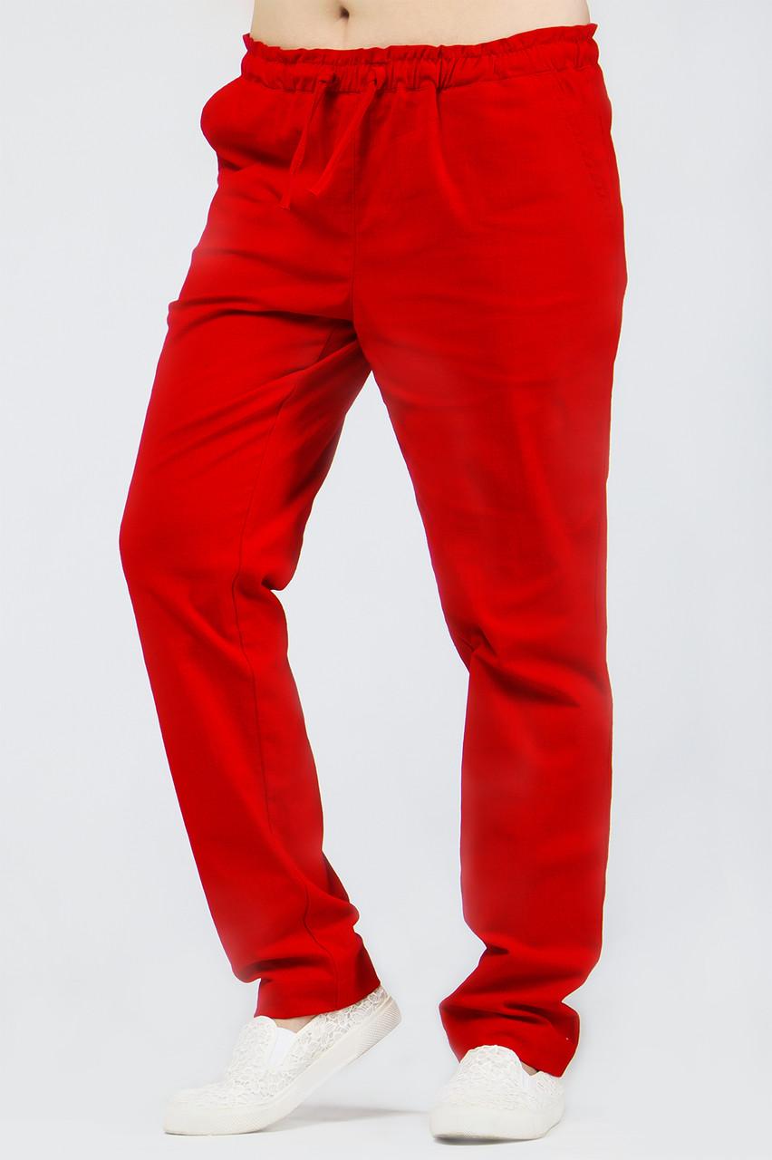 Спортивные штаны женские красные Спорт