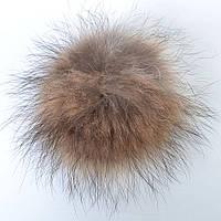 Помпон из натурального меха енота - 29-476