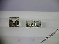 Турмалин природный квадрат  7*7; 5*5; 4,9*4,9мм.