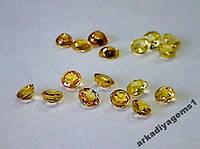 Сапфир желтый круг д.3 мм