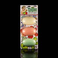Туалетное косметическое крем-мыло ЮСИ Рецепты природы, Планшет 3шт/уп, Для всей семьи