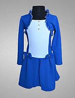 Красивое детское платье, синее