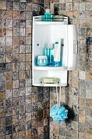 Полка пластик для ванной белый