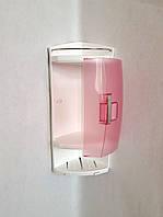 Полка для ванной пластик розовый, фото 1
