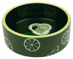 Trixie Миска керамическая Fresh Fruits, 0.8 л/ø 16 см, темно-зеленая