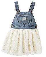 Джинсовый комбинезон для девочек Ошкош  +юбка пачка