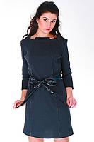 Платье серое плотное женское Шедевр