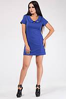 Синее женское Платье длиной выше колена Линда