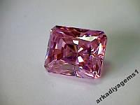 Фианит розовый октагон 12*10 мм