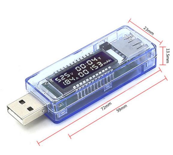 USB тестер заряда амперметр вольтметр #100358