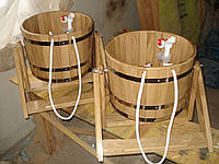 Ведро водопад дубовое 35 литров