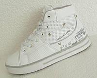 Кроссовки высокие Prestige LOVE белые, р.36-41, фото 1