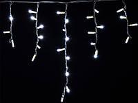 Новогодняя гирлянда DELUX ICICLE 126LED Flash 2x0.9, белая/белый провод, внешняя