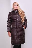 Зимнее женское пальто с капюшоном на синтепоне размеры 50 52 54 56 58