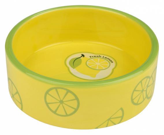 Trixie Миска керамическая Fresh Fruits, 0.8 л/ø 16 см, желтая