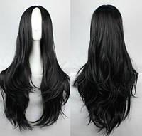 Парик длинные волосы черный наличие