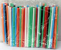 Трубочки разноцветные прямые 12,5 см (200 шт.)