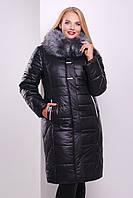 Длинное женское пальто на зиму приталенного силуэта размеры 50 52 54 56 58