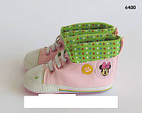 Пинетки-кеды Minnie Mouse для девочки. 12, 13 см
