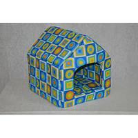 Домик для котов и собак стандарт голубая клетка