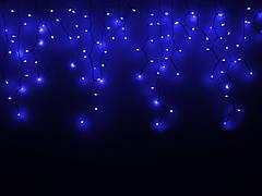 Гирлянда DELUX ICICLE 120ED 2x0.9, синяя/белый провод, внешняя
