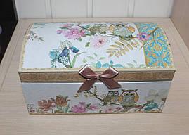 Красивая и милая шкатулка для украшений Совы. Подарки в стиле Прованс