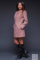 Пальто стильное с кармашками 02/1264