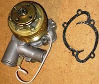 Насос водяной (помпа) Газель,Волга двигатель 405 с электромагнитной муфтой штуцер 20  (пр-во Россия)