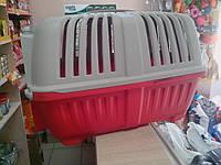 Переноска для животных Pratico красная дверца пластик