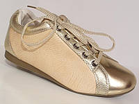 Кроссовки женские CANARY беж/gold, р.36-41, фото 1