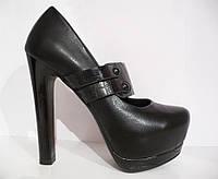 Туфли на платформе VIKA MO black, р.36-40, фото 1