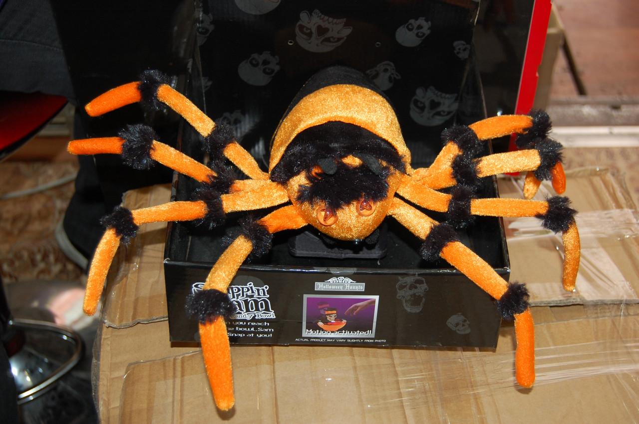 Большой паук светящийся